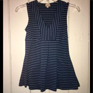 Beautiful Ella Moss blue striped sparkly top! ✨